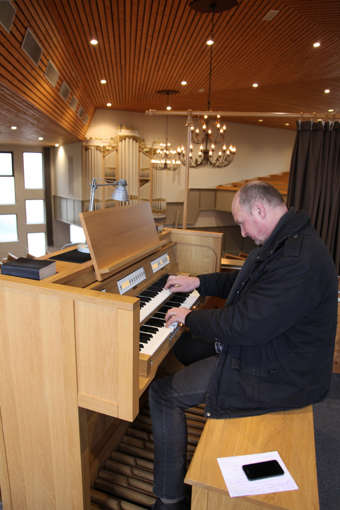 De 'afstand tot het orgel' is verkort door gebruik te maken van digitale techniek