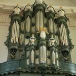 Het Hinsz-orgel uit 1776 in de Grote- of Nieuwe Kerk in Harlingen
